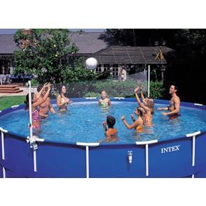 Hoort bij de ronde Intex Frame zwembaden diameter van 549 cm en 732 cm