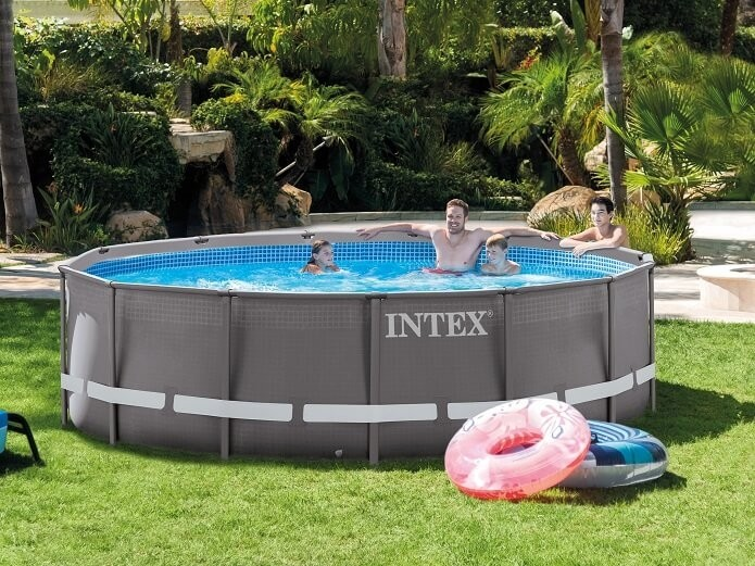 Intex ultra frame zwembad 427 x 107 cm zwembadgigant for Intex mini frame pool afdekzeil