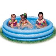 Blauw opblaasbaar zwembad
