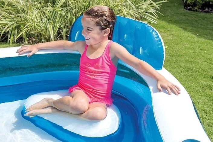 opblaasbaar zwembad met stoeltjes zwembadgigant
