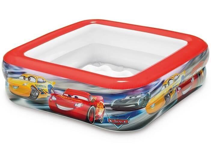 Cars play box zwembad for Zwembad vierkant intex