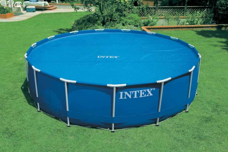 Intex solarzeil 3 05 meter zwembadgigant for Zwembad rond 3 meter intex
