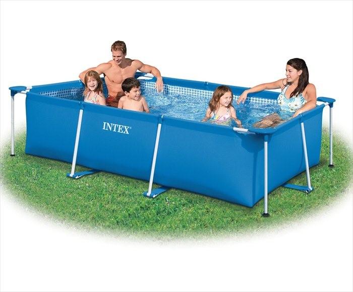 Intex zwembad klein frame 260 x 160 x 65 cm zwembadgigant for Zwembad frame