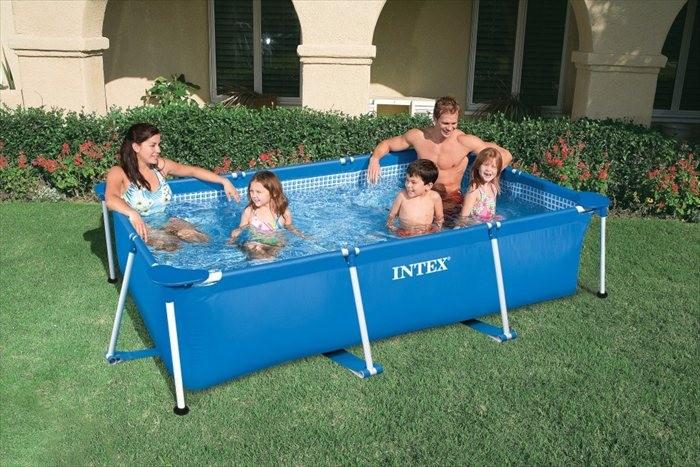 Intex zwembad klein frame 260 x 160 x 65 cm zwembadgigant for Opzet zwembad