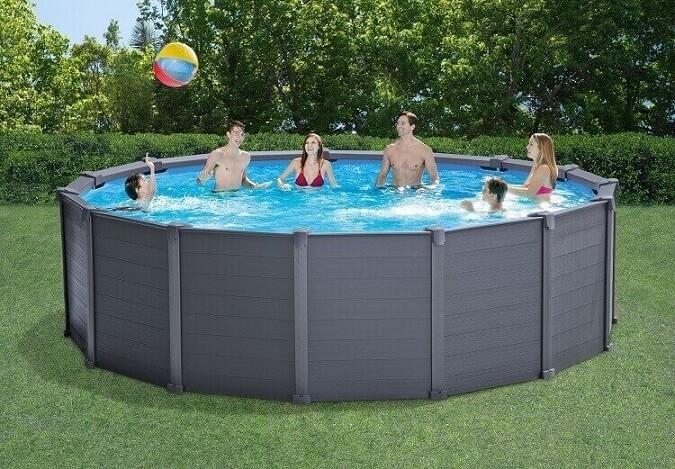 Intex zwembad graphite panel 478 x 124 cm zwembadgigant for Intex zwembad verkooppunten