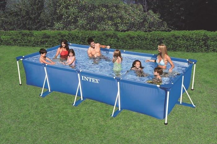 Intex zwembad klein frame 450 x 220 x 84 cm zwembadgigant for Zwembad intex