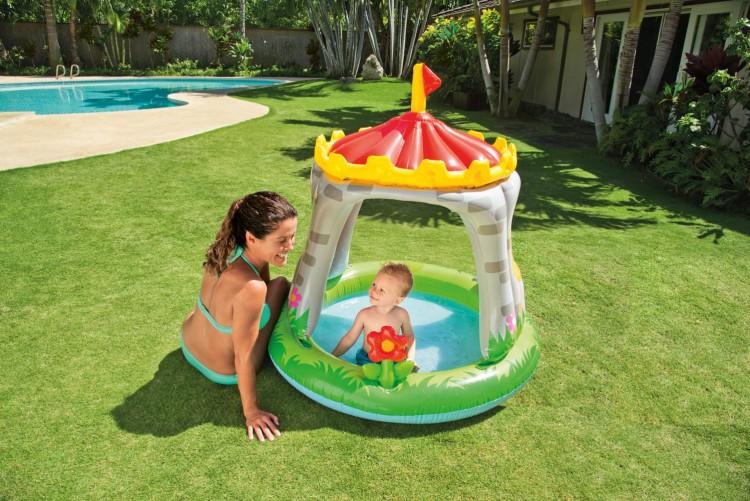 Baby zwembad koninklijk kasteel zwembadgigant for Intex zwembad baby
