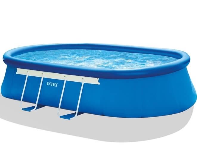Intex oval frame zwembad 549 x 305 x 107 cm zwembadgigant for Intex ovale