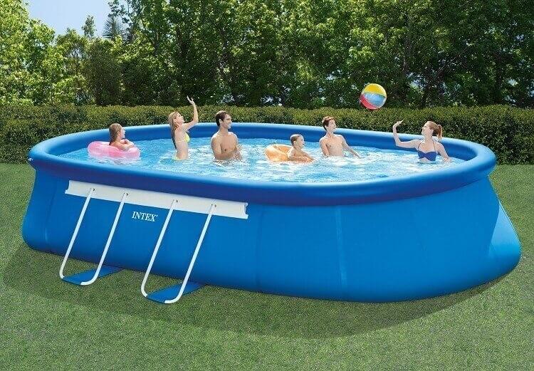 Intex oval frame zwembad 610 x 366 x 122 cm zwembadgigant for Zwembad frame