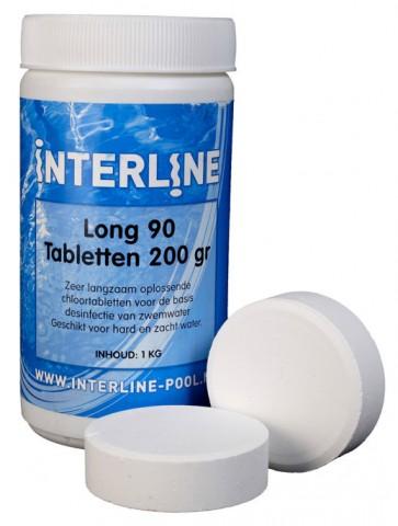 Interline Chloortabletten 90Long 200gr/1kg