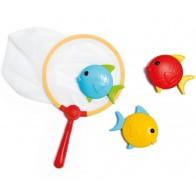 Onderwater visjes met schepnet