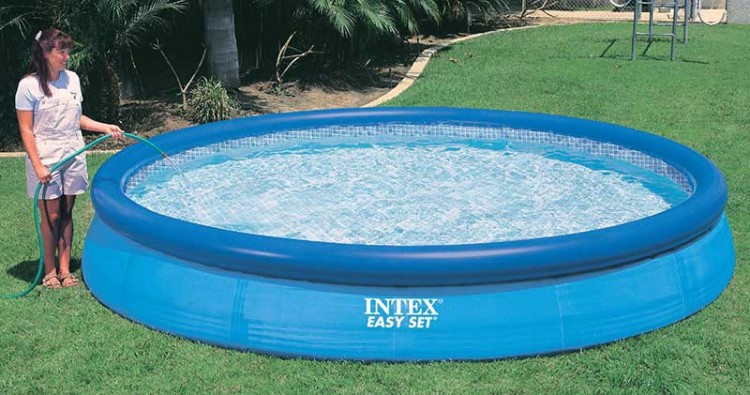 Intex easy set zwembad 366 x 76 zwembadgigant for Zwembad intex