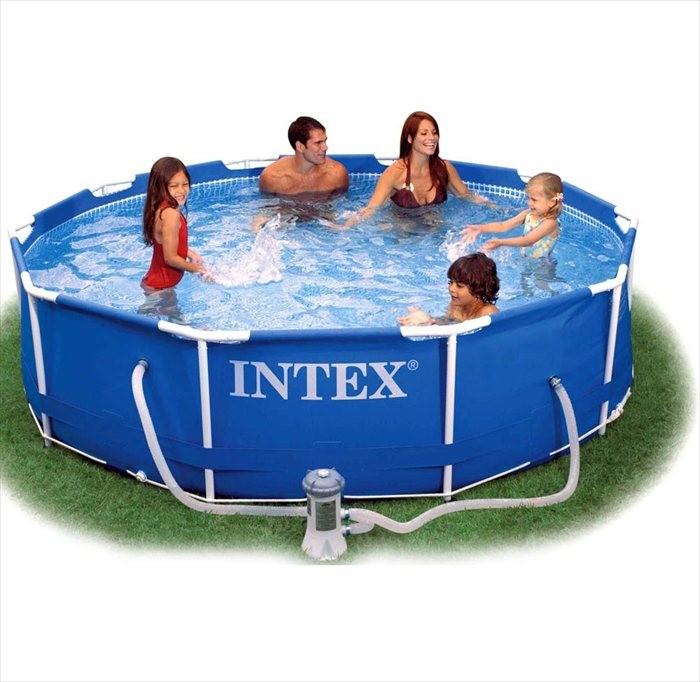 Intex metal frame zwembad 305 x 76 cm zwembadgigant for Intex zwembad verkooppunten