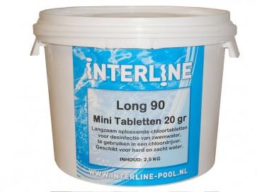 Interline Chloortabletten 90Long 20gr/2.5kg