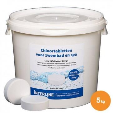 Interline Chloortabletten - Long90 200gram/5kg