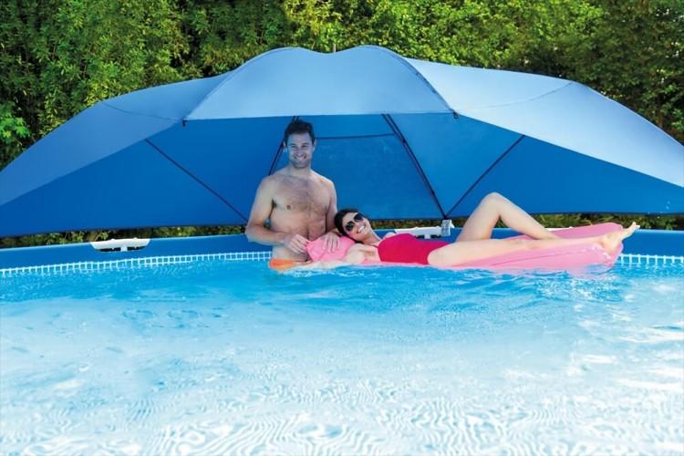 Intex zwembad overkapping zwembadgigant for Ondervloer intex zwembad