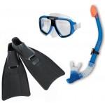 Snorkelset met dichte zwemvliezen 8+