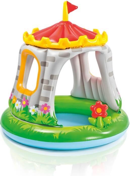 Baby zwembad koninklijk kasteel zwembadgigant for Klein opblaasbaar zwembad