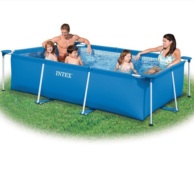 Intex zwembad klein frame 300 x 200 x 75 cm zwembadgigant for Filterpomp zwembad intex