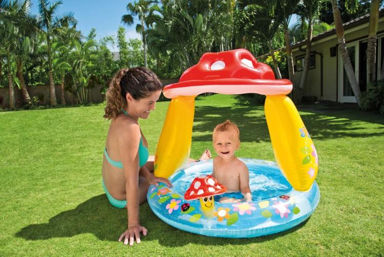 Baby zwembad paddenstoel zwembadgigant for Intex zwembad baby