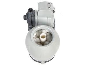 Zandfilterpomp met filterbollen