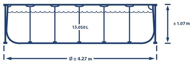 Prism Frame 427 x 107 cm