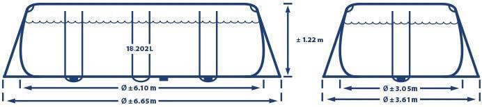 Prism Oval Frame 610 x 305 x 122 cm